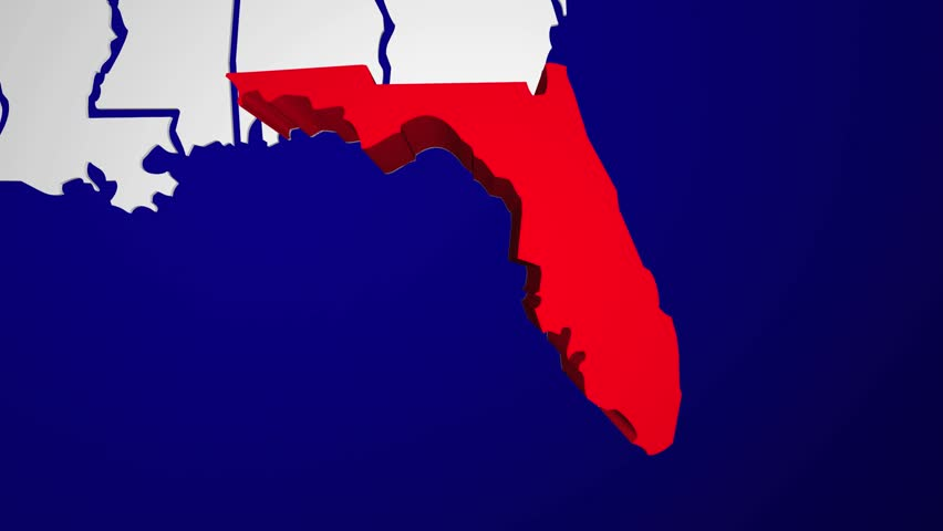 stock video of florida fl animated state map usa 14211875 shutterstock