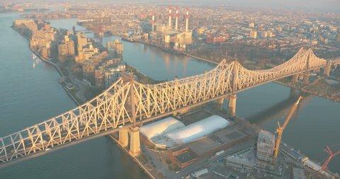 Queensboro Bridge New York Aerial December 2015