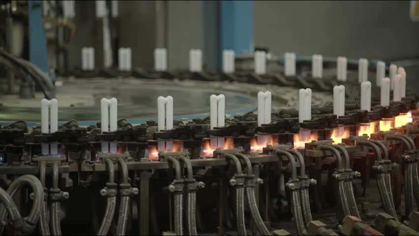 Compact Fluorescent Lamps In A Circle Inside A Factory Line, Manufacturing.  (Compact Fluorescent Lamp Factory) Stock Footage Video 14238665 |  Shutterstock