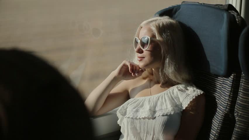Happy woman in the train | Shutterstock HD Video #14252315