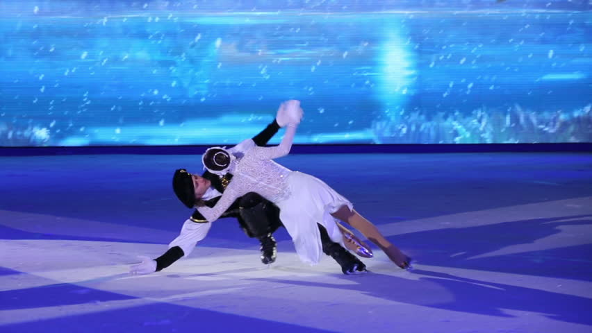 Christmas On Ice.Moscow Russia January 07 Stock Footage Video 100 Royalty Free 14328715 Shutterstock