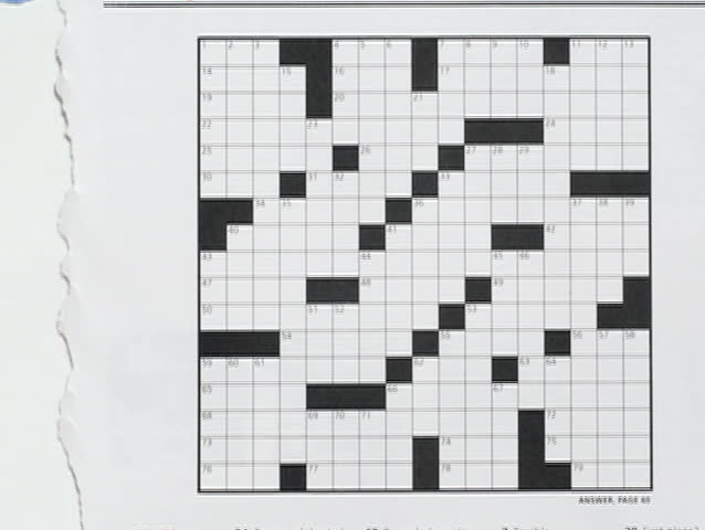 An Animation Depicting The Creation Of A Blank Crossword Template