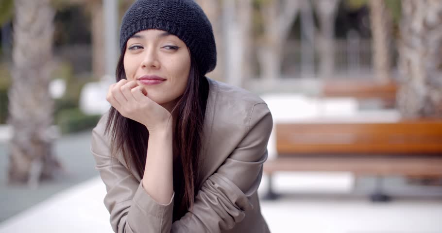 Thoughtful serious trendy young woman | Shutterstock HD Video #14401063