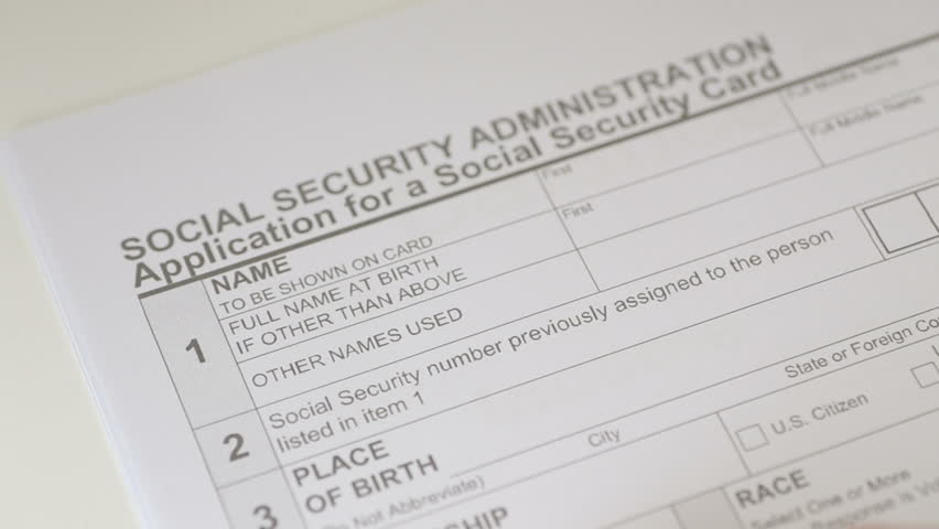 Man Filling Out Social Security Application Forms Stock Footage
