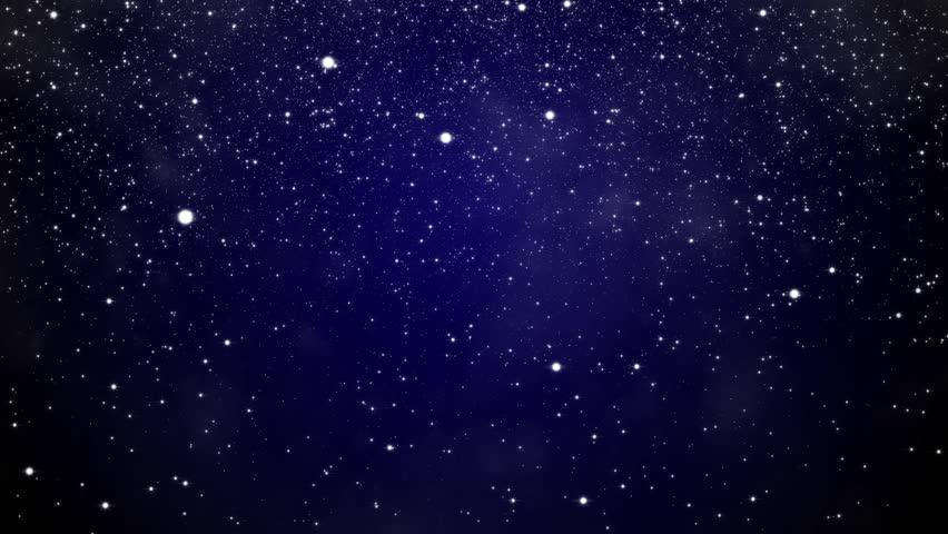 Dark Blue Sky Background: HD Seamless Loop With Near Realistic Twinkling Stars