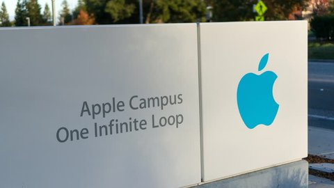 CUPERTINO, CA/USA - NOVEMBER 15: Apple headquarters on Nov 15, 2014 at Infinite loop in Cupertino. Apple Inc. is a multinational company, that develops consumer electronics, and computer software.