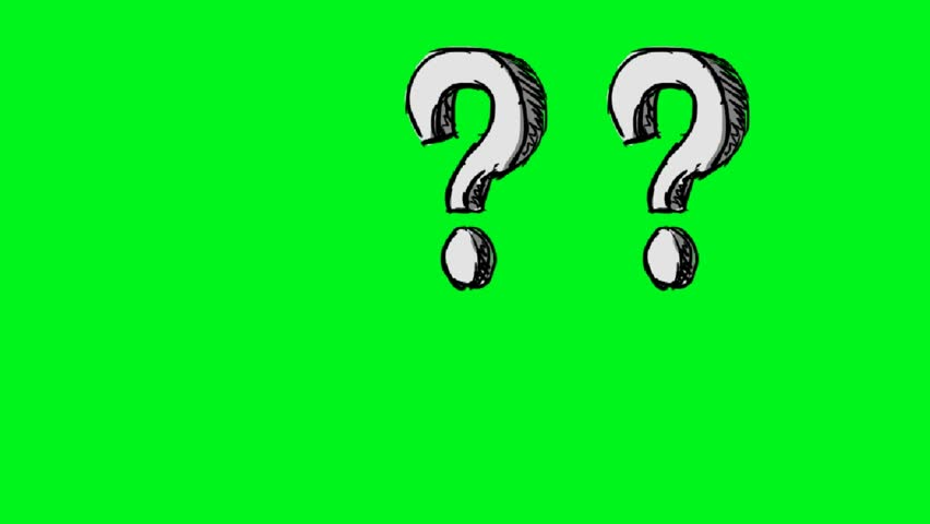 Hand-drawn question mark
