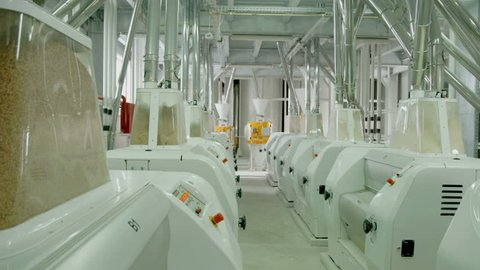 Production of wheat flour. Electromotors electrical mill machinery for the production of wheat flour. Grain equipment