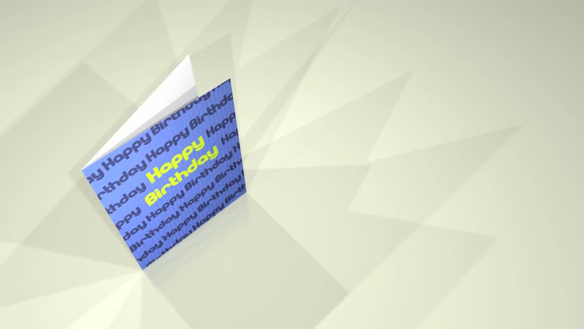 Animation of a greetings card showing a Happy Birthday message.