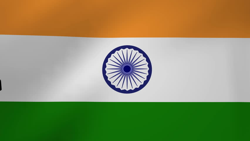 Indian Flag Images Hd720p: Waving India Flag, Ready For Seamless Loop. Stock Footage