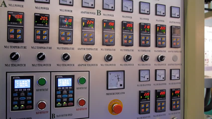 Digital Control Panel : The main control panel with buttons and digital displays