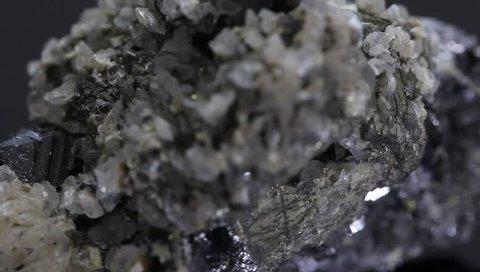 Raw black mineral , quartz, galena 9