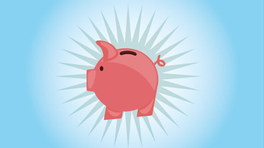 Piggy bank blueprint stop motion style animation stock footage video money icon design video animation hd stock video clip malvernweather Images
