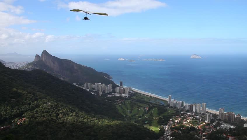 gliding flight, Rio de Janeiro