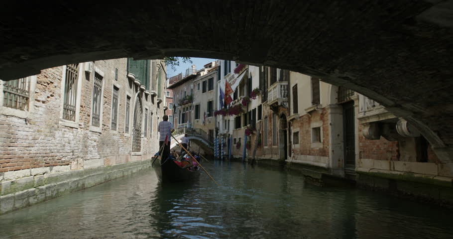 Gondola in the canals of Venice | Shutterstock HD Video #14595205