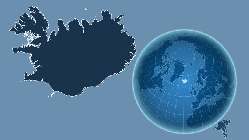 Iceland shape animated on the satellite map of the globe videos de iceland shape animated on the admin map of the globe 4k stock video clip gumiabroncs Gallery