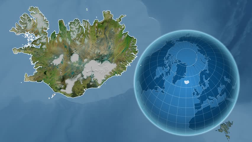 Iceland shape animated on the physical map of the globe stock iceland shape animated on the satellite map of the globe 4k stock video clip gumiabroncs Choice Image