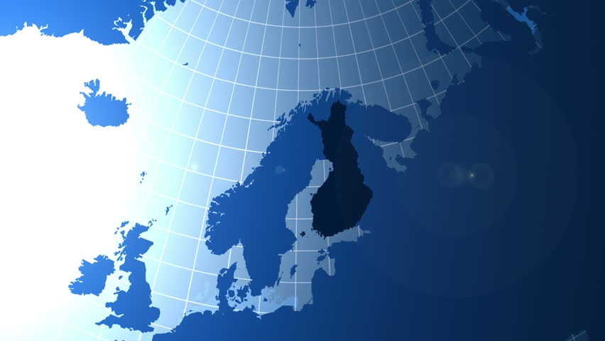 Norway Zooming Into Norway On The Globe Stock Footage Video - Norway map on globe