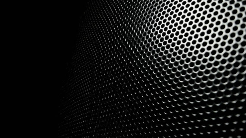 Metallic grid motion background  Dark metal background with perforated  holes  4K 3840x2160 UHD video. Metallic Grid Motion Background  Dark Metal Background With