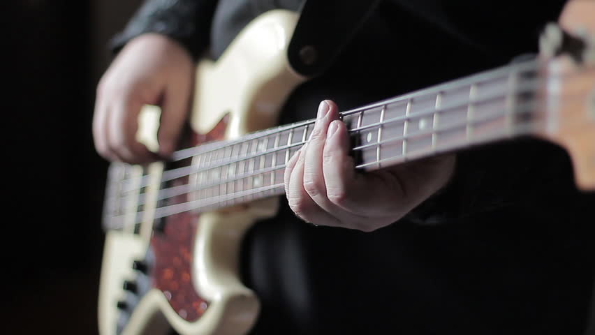Stock Video Clip Of Close Up Video Of Bass Guitar Playing Shutterstock