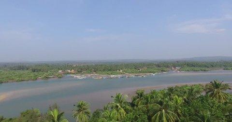 Goa,India 2016 Beautiful scenery on the rise phantom 3 professional 4k above the sea
