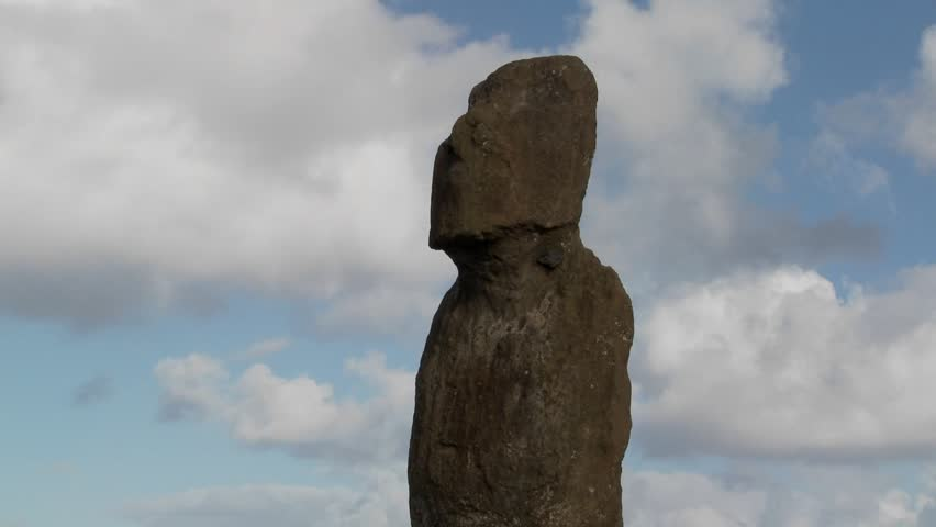 Time lapse of a mystical statue on Easter Island.
