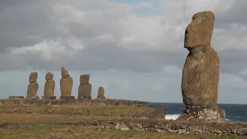 The mystical statues of Easter Island.
