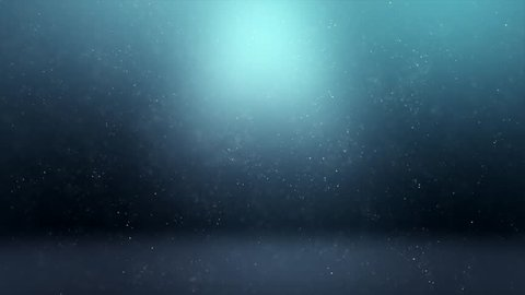 Royalty free stock footage & visuals featuring glowing light blue green bokeh orb shaped particle clouds or smoke motion background. For LED installations, club visuals or creative editing projects