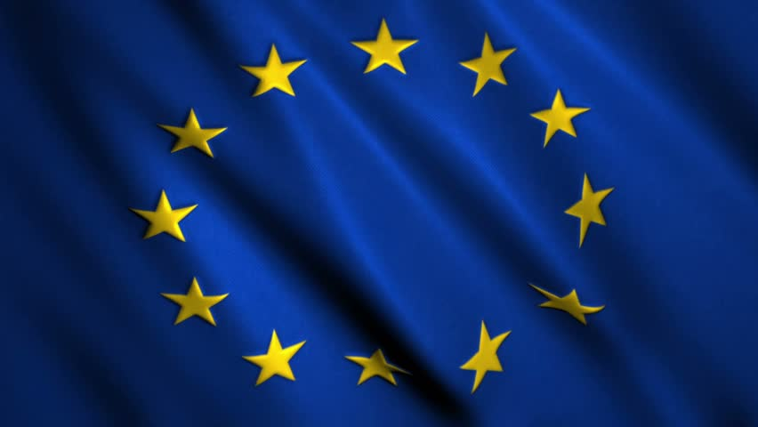 flag of the european union beautiful 3d animation of the