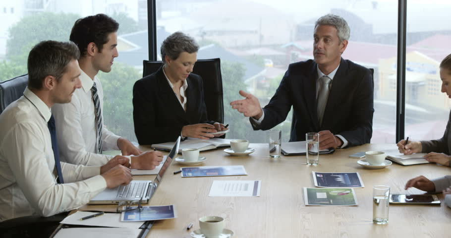 the office the meeting. Business People In Meeting The Office - 4K Stock Video Clip N