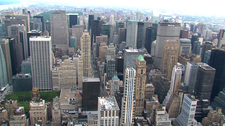 New York - Circa October 2010: Aerial view of a New York City street. | Shutterstock HD Video #1487668