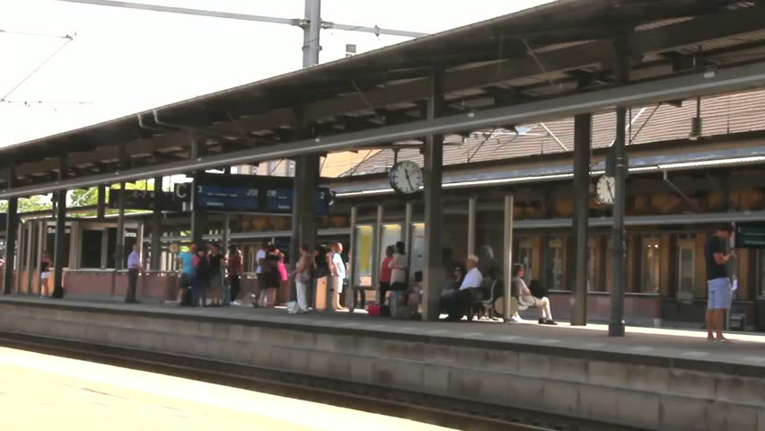 dusseldorf germany circa july 2015 on the train platform time lapse - Open Canopy 2015