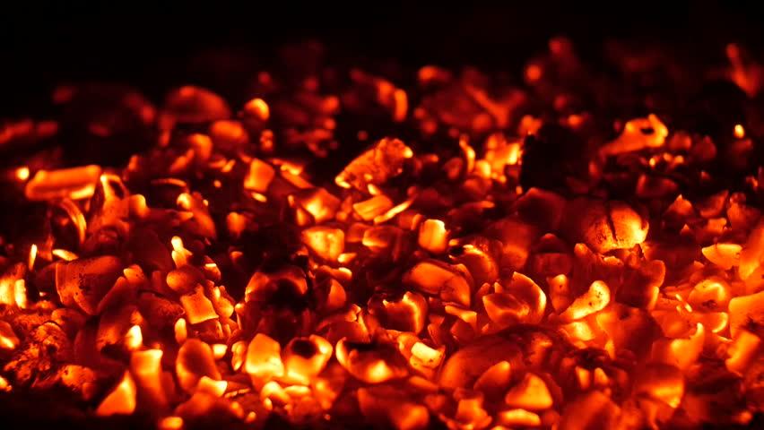 charcoal smolders, glow #14920780