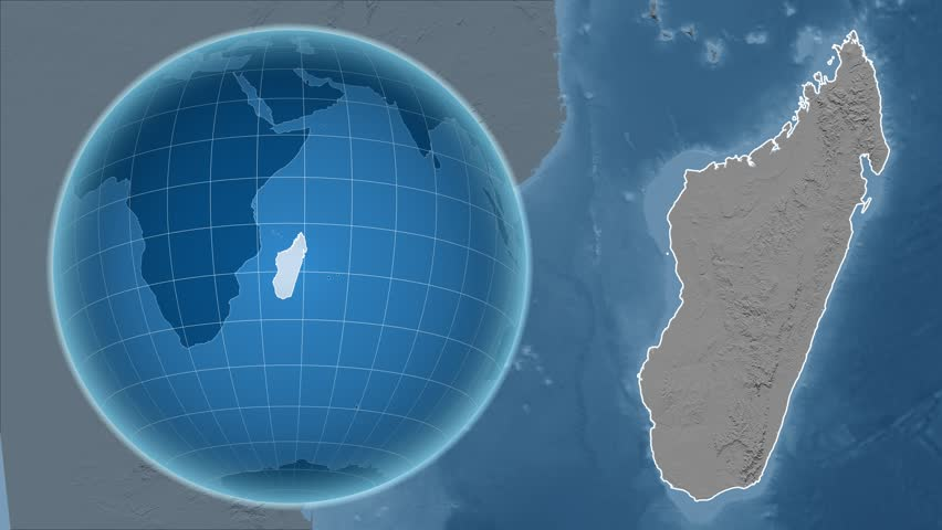 Argentina Zooming Into Argentina On The Globe Stock Footage - Argentina globe map