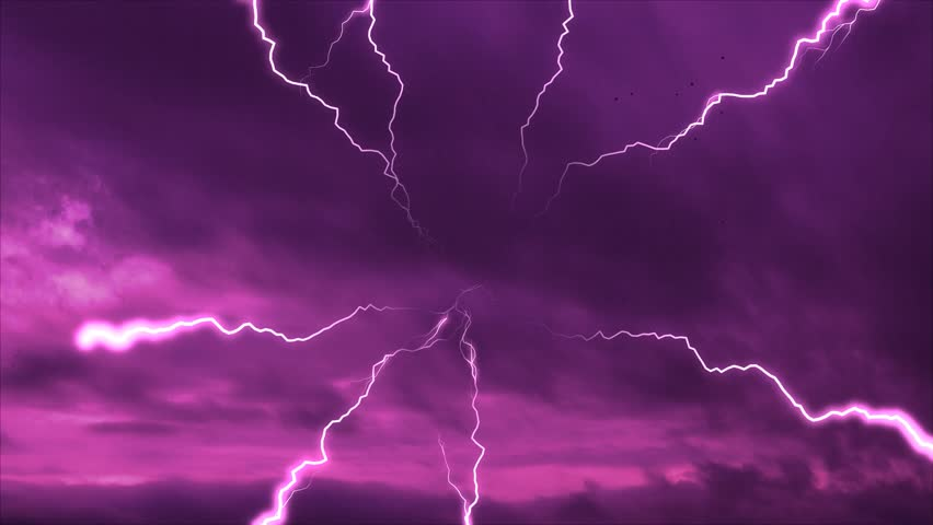 pink lightning weather report stormy clouds 1920x1080 full