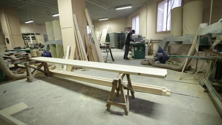 Machine Carpenter Wood Worker Workshop   HD Stock Video Clip