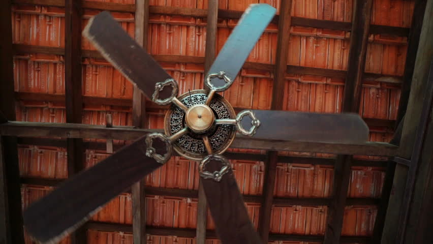 Rotation ceiling fan under the roof of the gazebo videos de metraje rotation ceiling fan under the roof hd stock video clip aloadofball Gallery