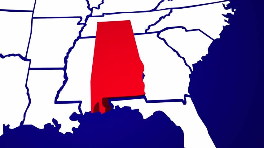 Arkansas AR United States Of America D Animated State Map Stock - United states map arkansas