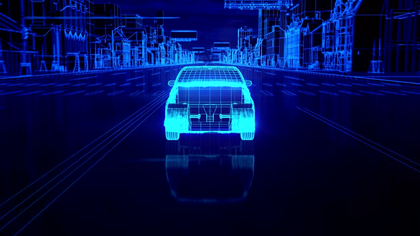 Abstract 3D Car Animation
