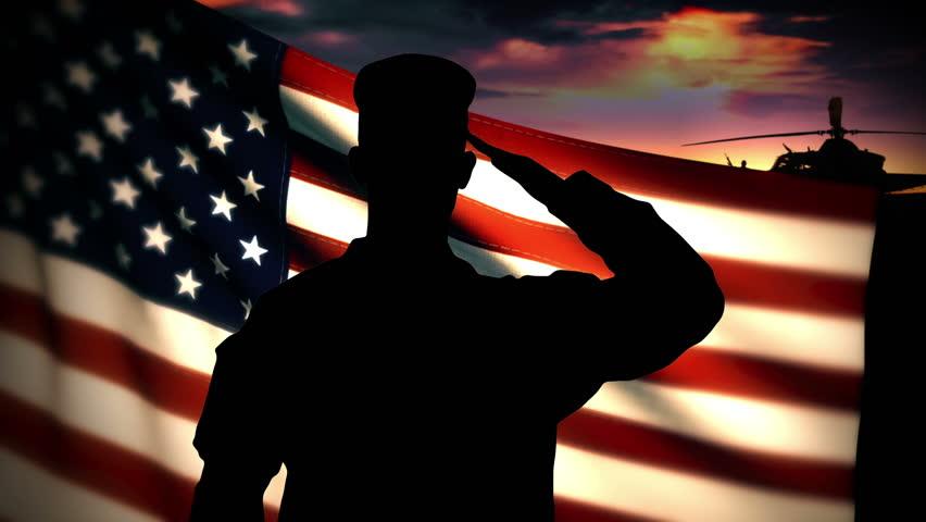 Army salute flag