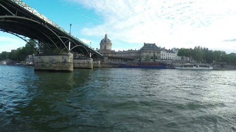 Riverboat riding on the Seine river in Paris