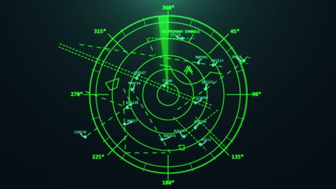 Airport air traffic control radar. Airport air traffic control radar. Screen. Monitor. Flight control. Security