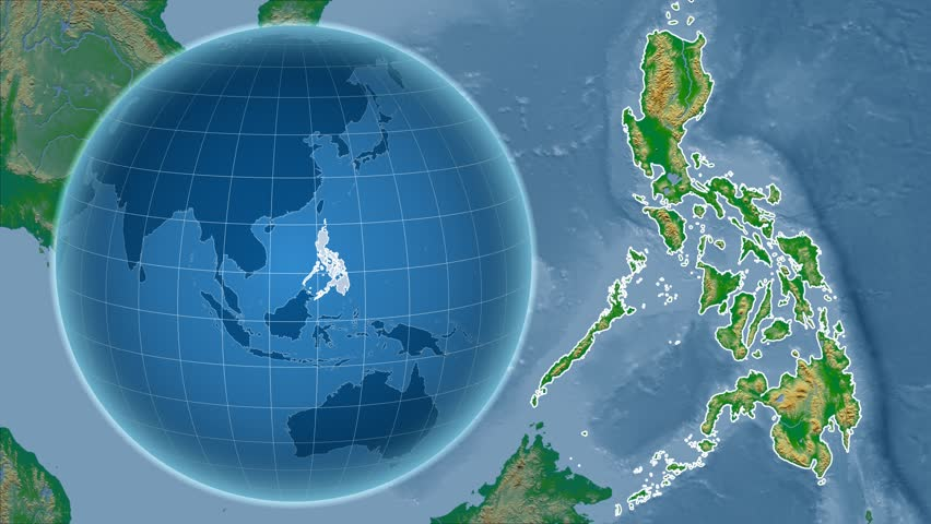 Map Of The Globe Of The World.Philippines Shape Animated On The Stock Footage Video 100 Royalty Free 15389035 Shutterstock