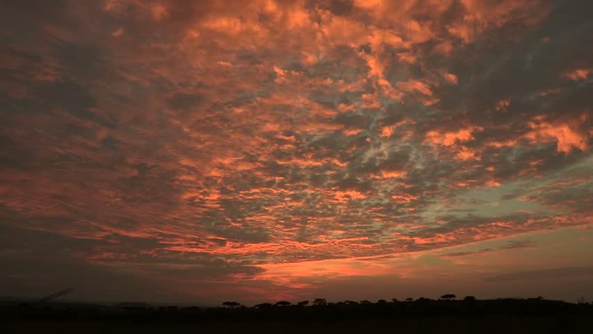 African sunrise time-lapse