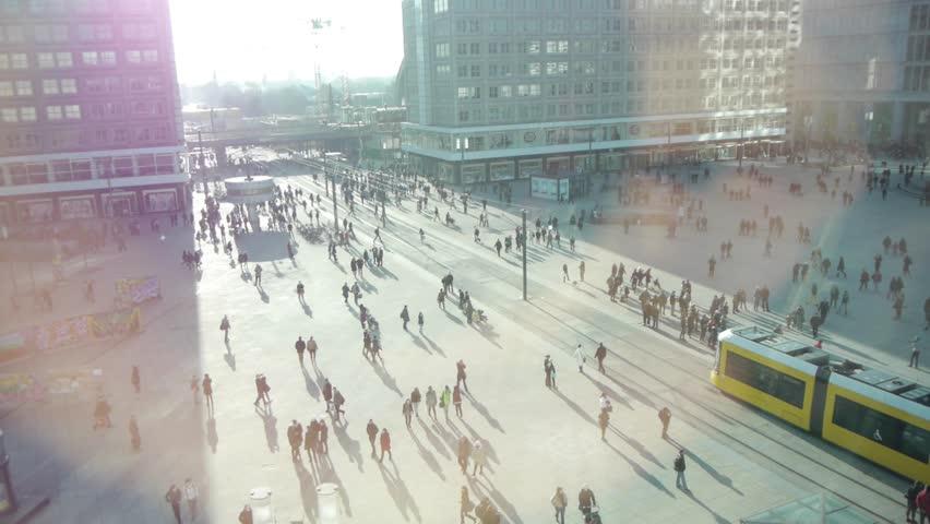 People in the city. urban lifestyle background. pedestrians walking on public street  | Shutterstock HD Video #15446215