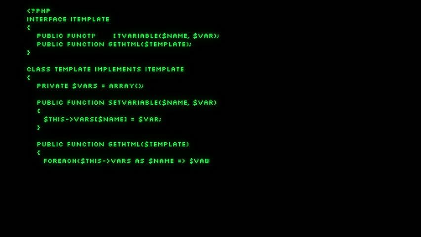 Programming code filling screen. 4k UHD (3840x2160)  | Shutterstock HD Video #15459535