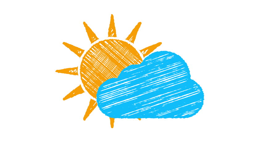 Weather Icon Cloudy, Sun and Stock Footage Video (100% Royalty-free)  15515845 | Shutterstock