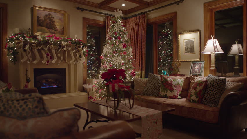 Wide Shot Of Christmas Decor In House Cedar Hills Utah United States