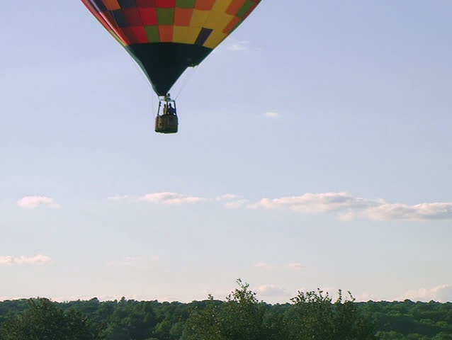 Hot Air Balloon Takes Flight