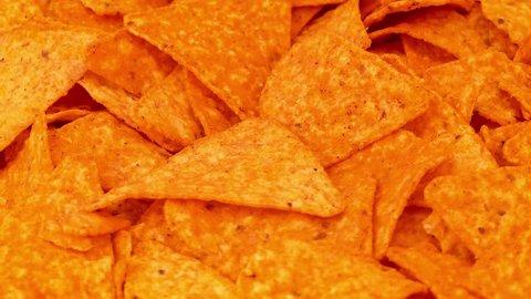 Tortilla Chips Rotating Closeup